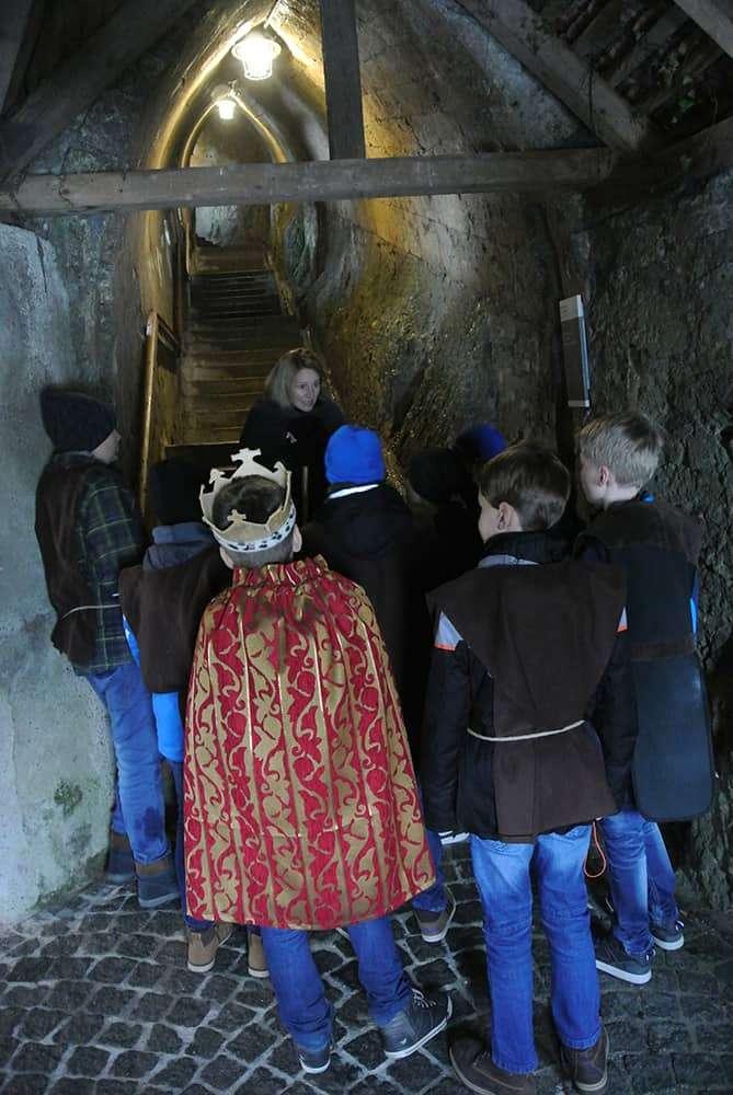 Kinderfuerhrung Festung Kufstein Stiege